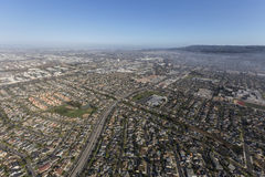 Vue aérienne d'avenue d'Anza près de Del Amo Blvd en Torrance California Photographie stock