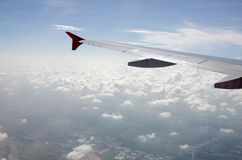 Vue aérienne d'avion Photographie stock