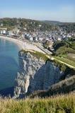 Vue aérienne d'Etretat dans les Frances Photo stock
