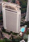 Vue aérienne d'hôtel Images stock