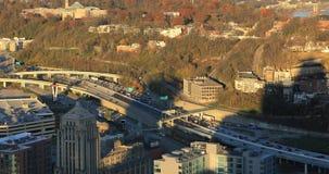 Vue aérienne d'heure de pointe à Cincinnati 4K