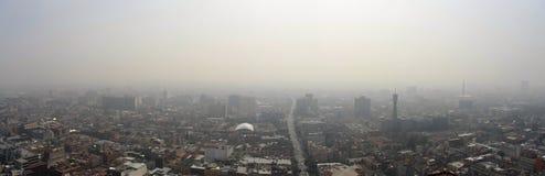 Vue aérienne d'horizon de Mexico de la capitale Images libres de droits