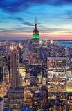 Vue aérienne d'horizon de New York City Manhattan Photo stock
