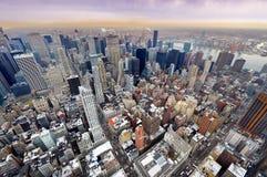 Vue aérienne d'horizon de New York City Manhattan Photographie stock