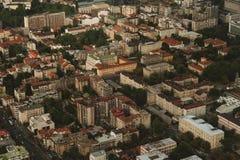Vue aérienne d'horizon - paysage de ville Images stock