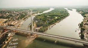 Vue aérienne d'horizon - paysage de ville Photo libre de droits