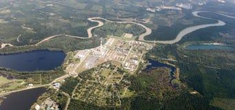 Vue aérienne d'industria d'essence photographie stock