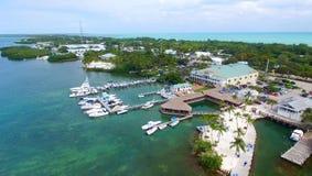 Vue aérienne d'Islamorada, clés de la Floride photos libres de droits