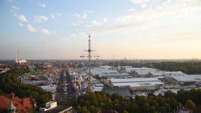 Vue aérienne d'Oktoberfest, Munich, Allemagne banque de vidéos