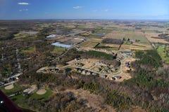 Vue aérienne d'Ontario du sud Photographie stock libre de droits