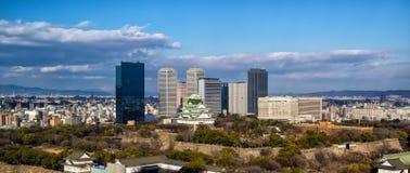 Vue aérienne d'Osaka Castle Photographie stock