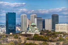 Vue aérienne d'Osaka Castle Photo stock