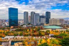 Vue aérienne d'Osaka, Japon Image libre de droits