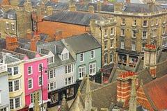 Vue aérienne d'Oxford Images libres de droits