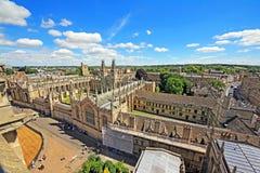 Vue aérienne d'Oxford, Angleterre Photographie stock