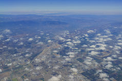 Vue aérienne d'Oxnard Pacifique Photographie stock libre de droits