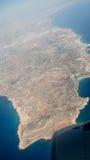 Vue aérienne d'un avion Image libre de droits