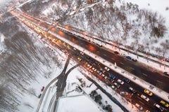 Vue aérienne d'un boulevard Images libres de droits