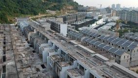 Vue aérienne d'un chantier de construction banque de vidéos