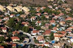 Vue aérienne d'un district résidentiel photographie stock libre de droits