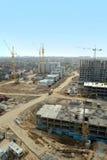 Vue aérienne d'un grand chantier de construction photographie stock libre de droits