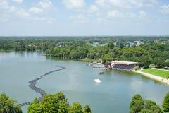 Vue aérienne d'un grand lac en région des lacs, la Floride Images libres de droits