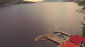 Vue aérienne d'un Jorpeland, Norvège clips vidéos