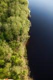 Vue aérienne d'un lac image libre de droits