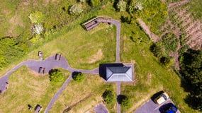 Vue aérienne d'un parc image libre de droits