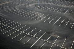 Vue aérienne d'un parking vide images libres de droits