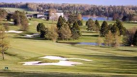 Vue aérienne d'un terrain de golf Photographie stock libre de droits