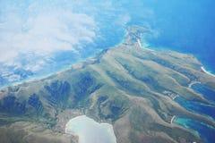 Vue aérienne d'une île Image stock
