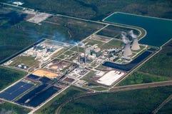 Vue aérienne d'une centrale  photographie stock
