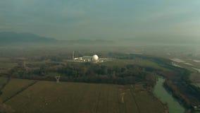 Vue aérienne d'une centrale nucléaire photo stock