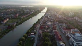 Vue aérienne d'une de la ville Poti, la Géorgie de côte de la Mer Noire clips vidéos