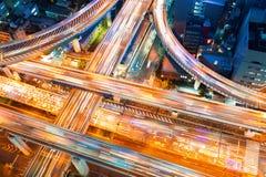 Vue aérienne d'une intersection de route à Osaka, Japon Photo libre de droits