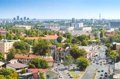 Vue aérienne d'une petite partie de voisinage de Rahova vers Vitan Image libre de droits