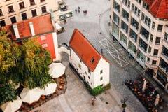Vue aérienne d'une place du marché à Wroclaw, Pologne photo stock