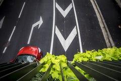 Vue aérienne d'une rue dans des Frances de Toulouse Photographie stock libre de droits