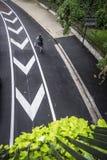 Vue aérienne d'une rue dans des Frances de Toulouse Image libre de droits