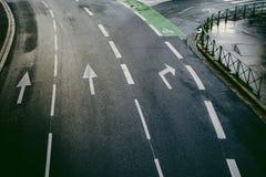 Vue aérienne d'une rue dans des Frances de Toulouse Images libres de droits