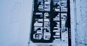 Vue aérienne d'une usine clips vidéos