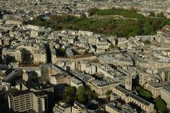 Vue aérienne d'une ville Image libre de droits