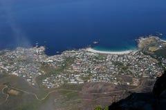 Vue aérienne d'une ville près d'espoir de cap Image libre de droits