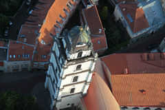 Vue aérienne d'université de Vilnius Images libres de droits