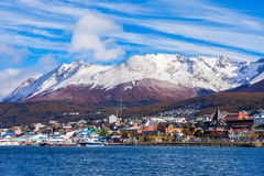 Vue aérienne d'Ushuaia, Argentine Photo stock