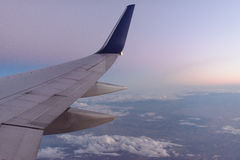 Vue aérienne dans l'avion images libres de droits