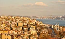 Vue aérienne de baie d'or de klaxon, Istanbul Images stock