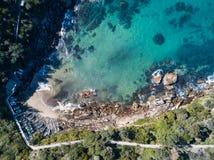 Vue aérienne de baie de Gordons, Sydney Image stock