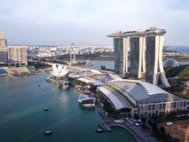 Vue aérienne de baie Singapour de marina Image stock